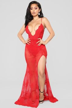 Shop for Dresses Online - Over 3800 Styles – translation missing: en.page : After The Sun Goes Down Dress - Red Sexy Outfits, Sexy Dresses, Cute Outfits, Fashion Dresses, Look Fashion, Fashion Beauty, Red Fashion, Ropa Interior Babydoll, Belle Silhouette