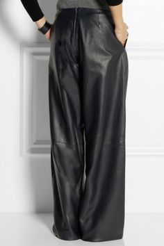 Repin if you love DKNY's faux leather wide-leg pants! #HSNFashion ...