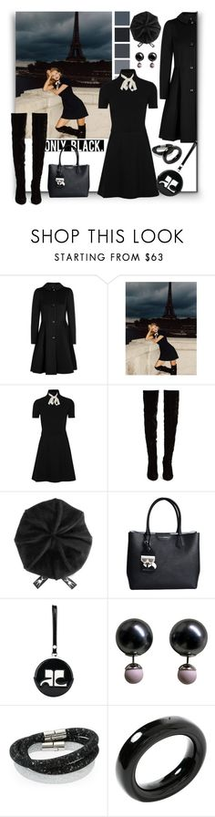"""Only Black: ""La Parisienne"""" by sylandrya ❤ liked on Polyvore featuring Armani Collezioni, Gucci, Christian Louboutin, Karl Lagerfeld, Courrèges, Christian Dior, Swarovski, Tiffany & Co., LBD and blackdress"