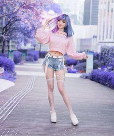 Harajuku Fashion, Kawaii Fashion, Cute Fashion, Asian Fashion, Look Fashion, Fashion Outfits, Womens Fashion, Fashion Design, Moda Punk