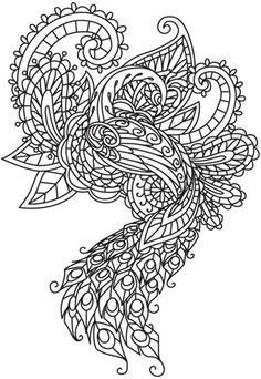 Mendhika Peacock | Urban Threads: Unique and Awesome Embroidery Designs-- Embroidery urbanthreads.com