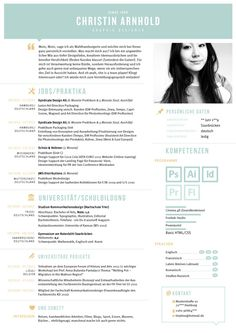 My CV / Mein Lebenslauf by Christin Arnhold, via Behance