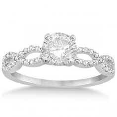 Change the circle cut to heart shaped. Twisted Infinity Diamond Engagement Ring Setting platinum (0.21ct)