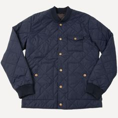 Dartmouth Quilted Bomber in Navy | Frank & Oak