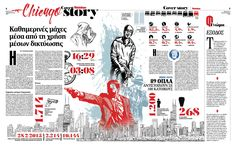 Layout, Chicago crime, newspaper Fileleftheros