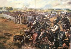 """"""" Russian cuirassiers attacking the French 46th infantry regiment at Borodino, 1812 """" I believe that is the Astrakhan cuirassier regiment. """" I doubt it...."""
