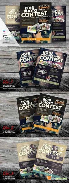Creativemarket Photo Contest Flyer Templates 361917