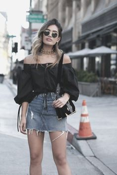 VISIT FOR MORE Awesome 39 Gorgeous Spring Outfits Ideas For Girls.c The post Awesome 39 Gorgeous Spring Outfits Ideas For Girls.c appeared first on Outfits. Denim Skirt Outfits, Casual Outfits, Girl Outfits, Cute Outfits, Fashion Outfits, Fashion 2018, Black Denim Skirt Outfit Summer, Fashionable Outfits, California Girl Fashion