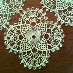 iğne oyası , salon takımı motifi Turkish needle lace