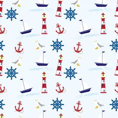 Nautical Wallpaper Pattern Seamless Free Stock Photo - Public Domain Pictures