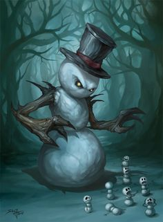 The Evil Snowman by ~Zeeksie repinned by www.BlickeDeeler.de
