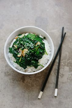 How To Stir-Fry Spinach with Garlic — Cooking Lessons from The Kitchn | The…