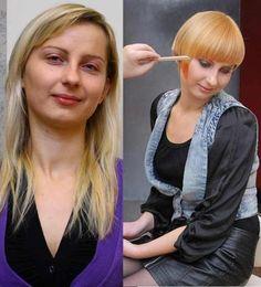 Hair Makeover : Hair Makeovers on Pinterest Razor Cut Hair, Shoulder Length Hair and ...
