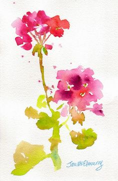 Loose watercolor flowers red and pink Easy Watercolor, Watercolor Cards, Watercolor Flowers, Watercolor Paintings, Watercolors, Floral Paintings, Watercolor Sketch, Painting & Drawing, Illustration Blume