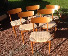 6 vintage 1970 dining chairs Dining Chairs, Furniture, Vintage, Home Decor, Decoration Home, Room Decor, Dining Chair, Home Furnishings, Vintage Comics