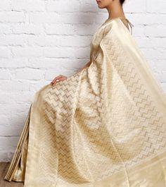 Ivory Silk Saree