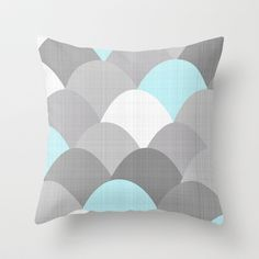 Scoops Linen Greys Throw Pillow by Neri Han - $20.00