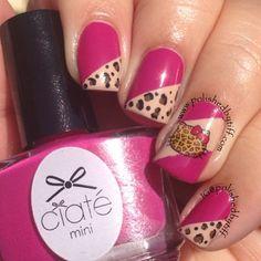 ♡   Hello kitty  leopard nails