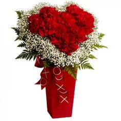 Buy Valentine's Flowers Bouquet Online to USA for your Love and order home delivery at her/him doorstep. Send valentines day flowers to make love Day. Send Flowers Online, Online Flower Shop, Romantic Flowers, Amazing Flowers, Vase Rouge, Flowers For Valentines Day, Red Carnation, Anniversary Flowers, Online Florist