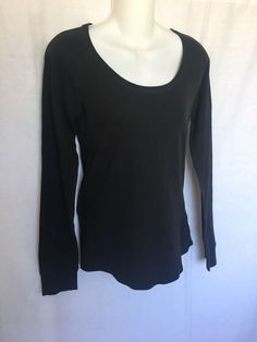 PINK Victoria s Secret Women s Long Sleeve Thermal T-Shirt Black Size Lg   fashion  clothing  shoes  accessories  womensclothing  tops (ebay link) 7e92d2df5