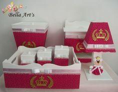 Kit higiene para bebê pink - princesa