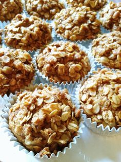 Applesauce Oat Muffins    Super healthy recipe! Can't wait to try it, looks delish. I just adore this woman's blog with healthy (and vegan) recipes for young children.