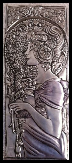 MIRIAN KELLER'S ARTS - Repujado (Latonagem) Artístico em Lâmina de Metal                                                                                                                                                                                 Mais