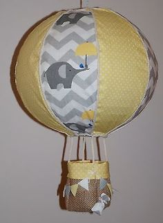 Up up amp awayx21 the balloon can be used as a lamp shade hot air balloon unisex light lamp shade yellow polka grey chevron elephant aloadofball Images
