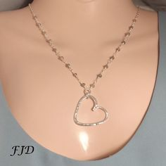 Silver Heart Necklace by FelicityDesignsLLC on Etsy