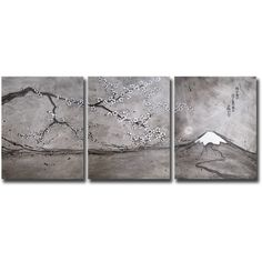 SONIEI, Contemporary Mount Fuji Painting, Japanese Calligraphy, Cherry Blossom | eBay | Japanese Kanji: ume ga ka ni notto hi no deru yamaji kana  (In the plum blossom scent, the sun pops out, a mountain path)  Haiku by Basho  | My Website: www.soniei.com