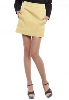 Pep up your fashion portfolio with this Mustard skirt tailor pocket by Korean Selection. Sport this bright piece at the office! Bring the fun up to another notch by pairing with a fitted white top and a baby blue cargidan.