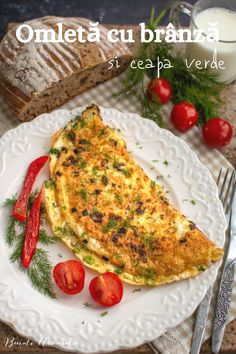 Cum se face cea mai bună omletă cu brânză și ceapă verde, un mic dejun de sezon, complet și sănătos, gata în 15 minute. Rețeta simplă de omletă. Grilling Recipes, Quiche, Food Porn, Food And Drink, Meat, Chicken, Breakfast, Omelette Recipe, Pancake