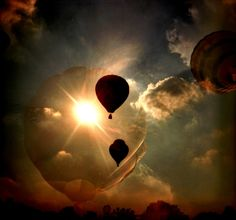 Balloons & it's Reflection on Sun Light.
