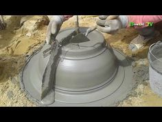 how to make a cement bonsai pot║ Making octagonal bonsai pot - YouTube