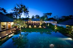 Night shot villa