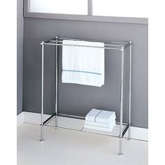 Whether you rent and can't make improvements, have a non-traditional tub placement, or just need more towel real estate, free-standing towel bars are an easy solution. From ladders to heaters, here's the splurge versus save roundup of towel racks of all shapes and styles.