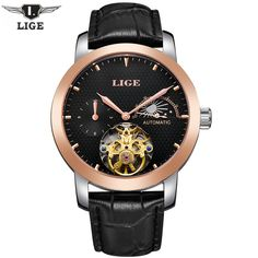 74259deae03 59.99  Buy here - LIGE Men s Luxury Casual Clock Dive Automatic Mechanical  Watch Men Genuine