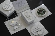 First Communion Gifts, Exploding Boxes, Marianne Design, Junk Journal, Christening, Stampin Up, Diy And Crafts, Cricut, Gift Wrapping