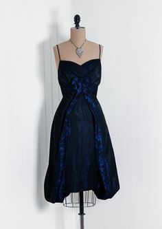 1950's sexy silk taffeta cocktail dress