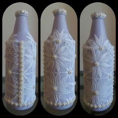 Xmas, Christmas, Bottle, Crafts, Home Decor, Decorate Bottles, Decorated Bottles, Craft, Crystals