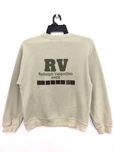 f760d5b70a2 Valentino 🔥🔥 On Sale RUDOLPH VALENTINO Sweatshirt Jumper Big Logo Medium Size  Size m -