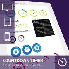 Circles Countdown Timer Adobe Muse Widget - This is a great new widget that allows you to easily add a smart circles based countdown. The widget has many modification options and is simple to scale to match the size you need.