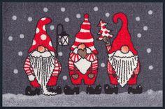 Weihnachtszwerge waschbare Fußmatte wash+dry