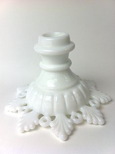 Westmoreland Milk Glass candlestick holder by QueensRansomSeattle, $6.00