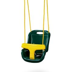 The Gorilla Playsets™ Infant Swing features 2 straps and a wide seat belt front.
