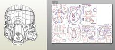 Destiny pepakura files (download within)