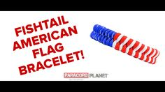 "#BRANDNEW Paracord Planet video!! In honor of Memorial Weekend, we made this new design. Check out the ""Fishtail American Flag Bracelet."" What do you think?! Give it a shot and show us your finished product below. https://www.youtube.com/watch?v=lL000ZFLbfg #paracord #fishtail #american #flag #bracelet #tying #knotting #crafting #craft #tutorial #video #design #diy"