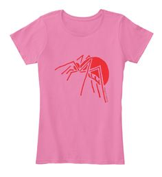 Spider True Pink T-Shirt Front
