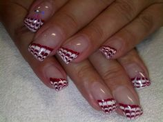 Gel nail art I like the idea of pulling the polish. Not necessarily the pattern.