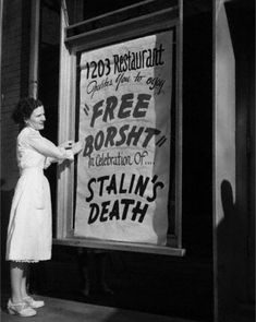 A Ukrainian-American family celebrates the death of Stalin, 1953